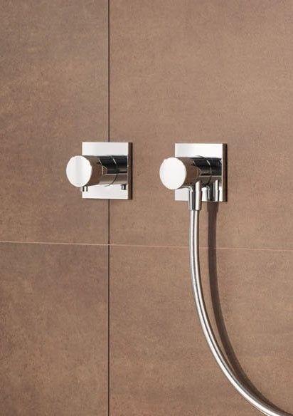 Keuco IXMO Komplett-Set Unterputz Duschsystem mit Thermostat Brauseset und Kopfbrause eckige Rosette 59605010002