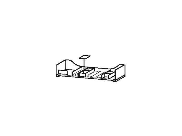 Duravit L-Cube Einrichtungssystem Universal für Auszug 1020mm ohne Siphonausschnitt ahorn massiv UV983707878