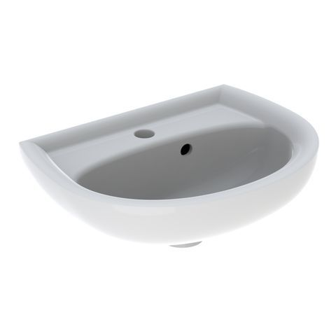 Geberit Keramag Renova Handwaschbecken B:45xT:34cm 1 Hahnloch mit Überlauf weiß mit KeraTect 273045600