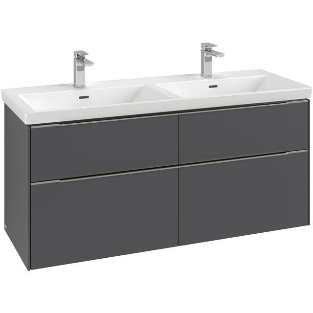 Villeroy & Boch Subway 3.0 Waschtischunterschrank 127,2x57,9x46,2cm 4 Auszüge Waschtisch mittig Pure White C56801VF