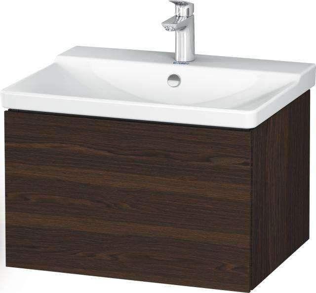 Duravit L-Cube Waschtischunterschrank wandhängend für 233265 B:62xH:40,5xT:48,1cm 1 Auszug Nussbaum gebürstet LC614406969