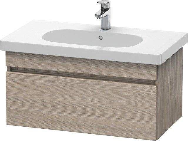 Duravit DuraStyle Waschtischunterschrank wandhängend B:80xH:39,8xT:45,3 cm mit 1 Auszug pine silver DS638403131