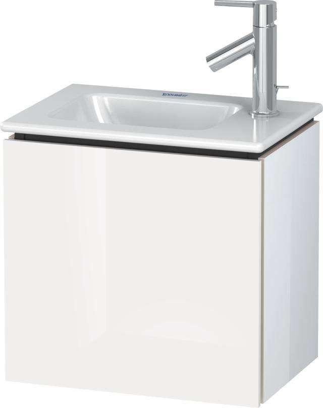 Duravit L-Cube Waschtischunterschrank wandhängend B:42xH:40xT:29,4 cm mit 1 Tür Anschlag linksweiß hochglanz LC6272L2222