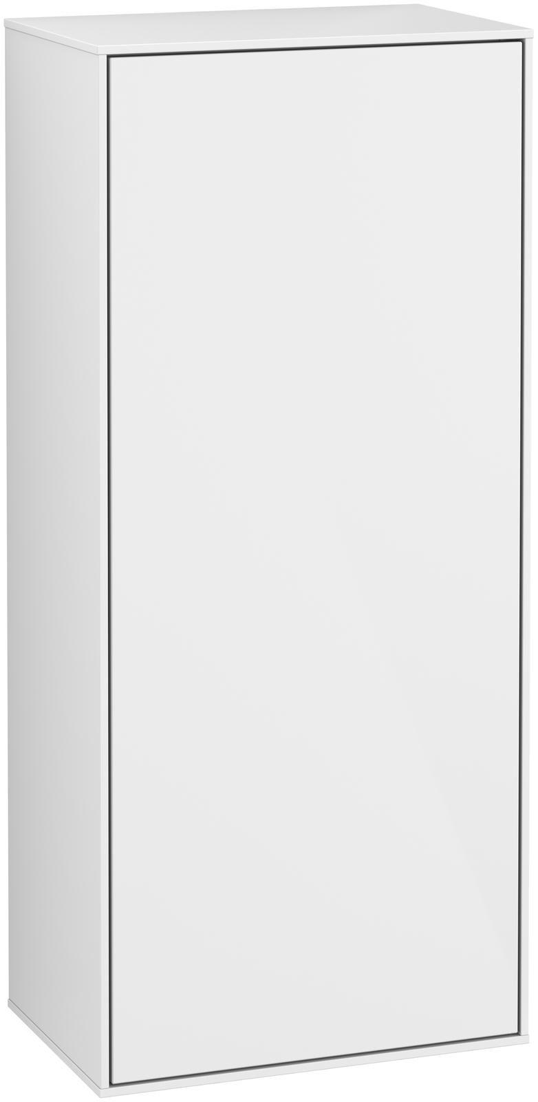 Villeroy & Boch Finion G57 Seitenschrank 1 Tür Anschlag rechts LED-Beleuchtung B:41,8xH:93,6xT:27cm Front, Korpus: Glossy White Lack G57000GF
