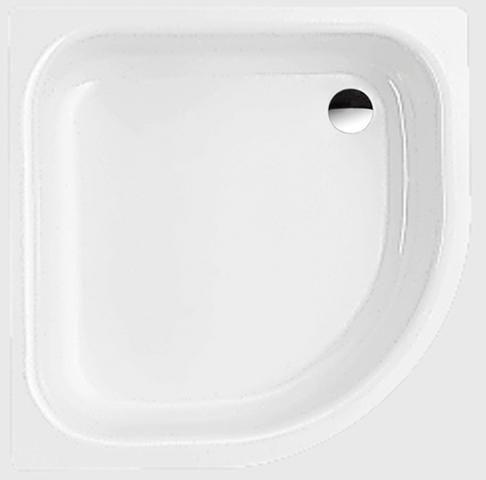Bette Corner Viertelkreis Duschwanne L:80xB:80xT:3,5cm ohne Schürze weiß 5399-000