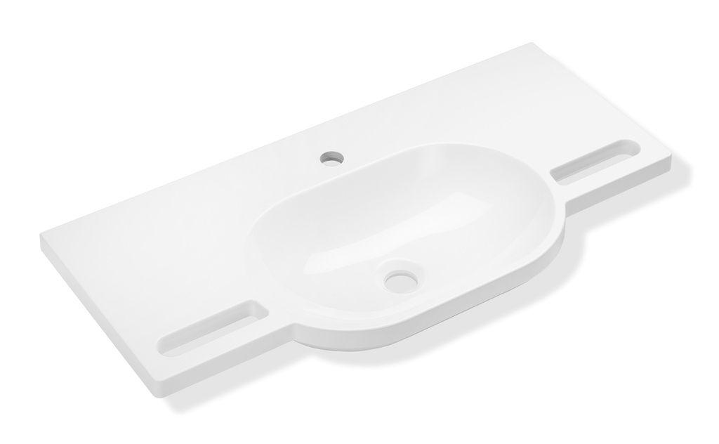 Hewi Waschtisch B:85xT:41,5cm unterfahrbar integrierte Haltemöglichkeit ohne Überlauf weiß 950.11.201