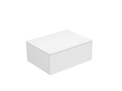 Keuco Edition 400 Sideboard wandhängend 1 Frontauszug 700 x 289 x 535 mm weiß/Glas titan satiniert 31741770000