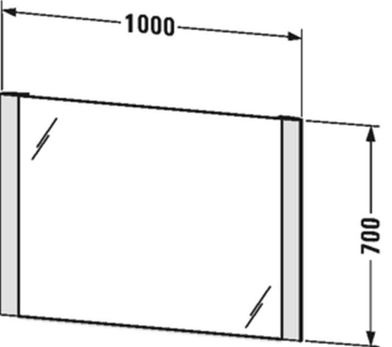 Duravit Licht&Spiegel mit Beleuchtung seitlich mit Sensorschalter B:100xH:70xT:3,4 cm LM787700000