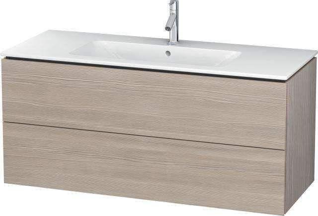 Duravit L-Cube Waschtischunterschrank wandhängend B:122xH:55xT:48,1 cm mit 2 Schubkästen pine silver LC624303131