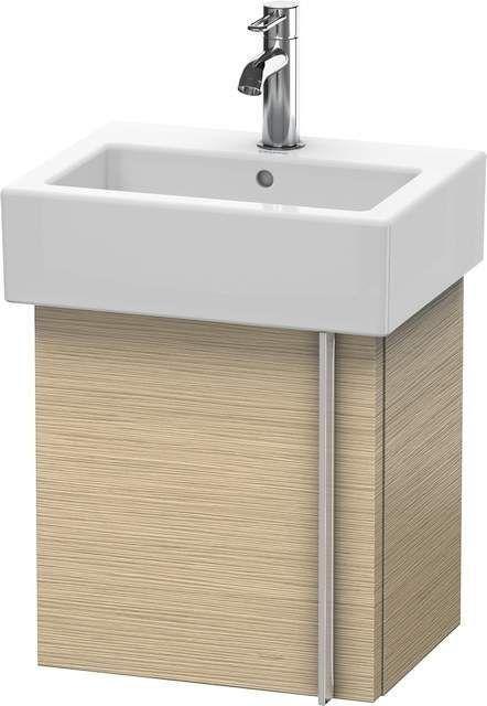Duravit Vero Waschtischunterschrank wandhängend B:40xH:42,8xT:31,1cm 1 Tür Türanschlag links eiche gebürstet VE6271L1212