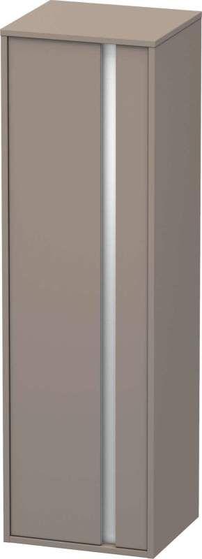 Duravit Ketho Hochschrank B:40xH:132xT:36cm 1 Tür Türanschlag links basalt matt KT1257L4343