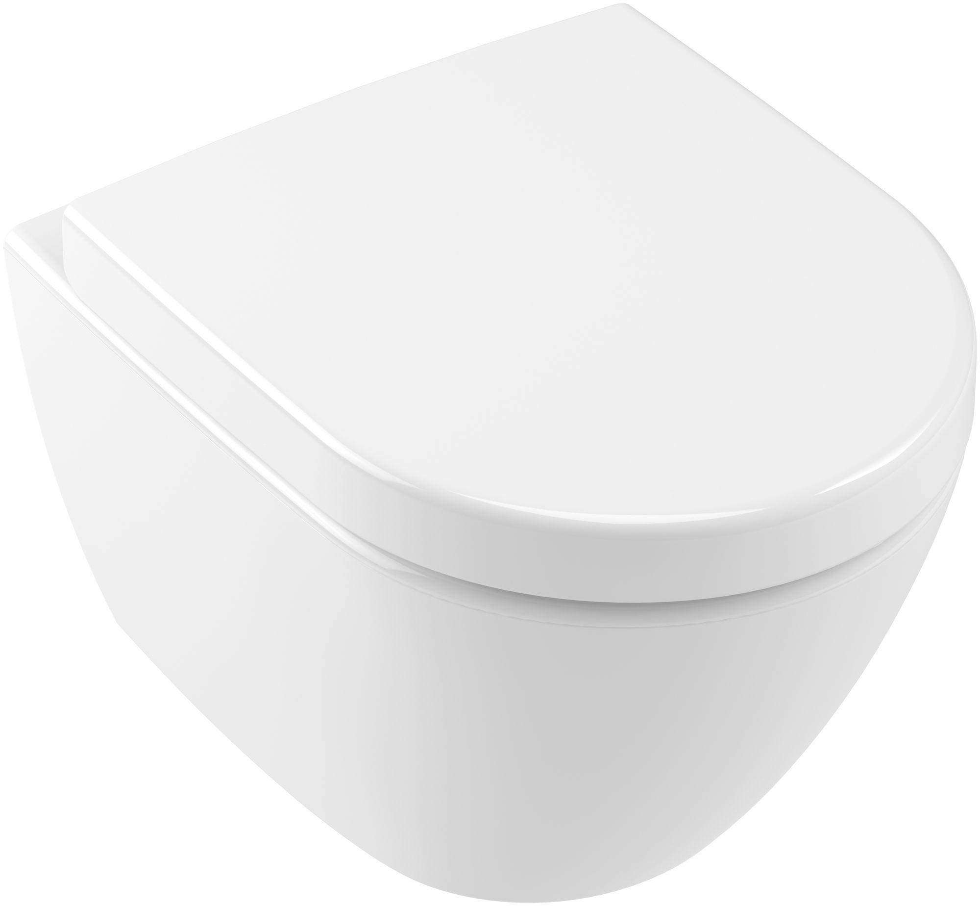 Villeroy & Boch Subway 2.0 Tiefspül-Wand-WC compact DirectFlush mit offenem Spülrand L:48xB:35,5cm weiß mit CeramicPlus 5606R0R1
