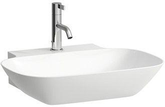 Laufen INO Aufsatzwaschtisch ohne Hahnloch mit Überlauf Unterseite geschliffen B:56xT:45cm weiß mit CleanCoat LCC H8163024001091