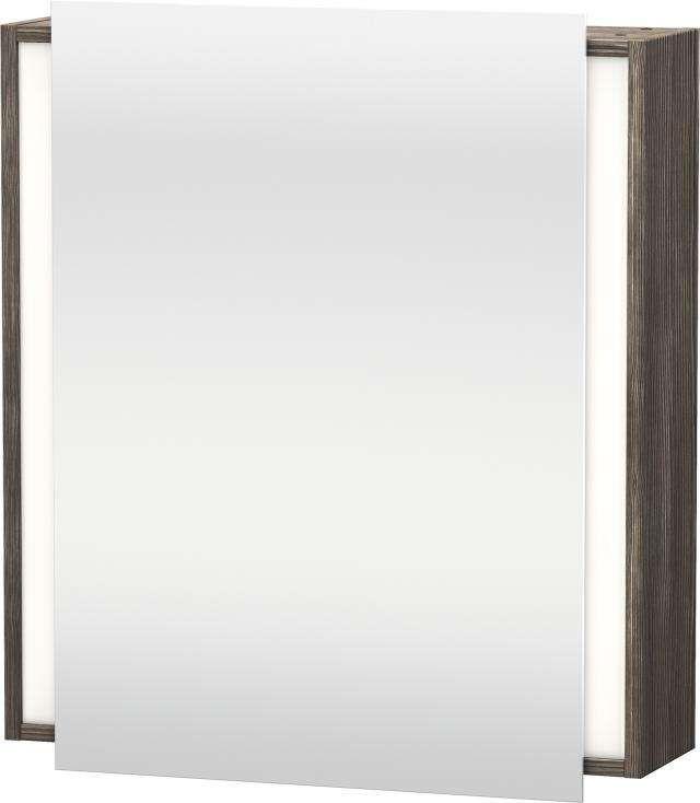 Duravit Ketho Spiegelschrank mit Beleuchtung B:65xH:75xT:18cm 1 Spiegeltür Türanschlag links pine terra KT7530L5151