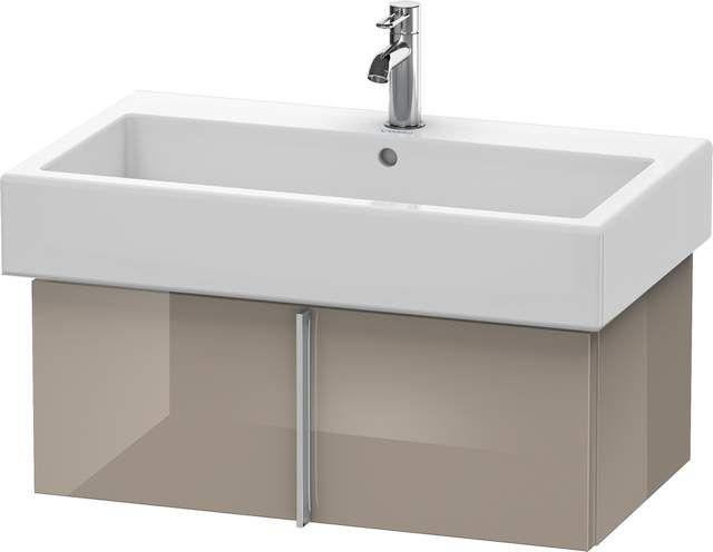 Duravit Vero Waschtischunterschrank wandhängend für 045480 B:75xH:29,8xT:43,1cm 1 Auszug cappuccino hochglanz VE610608686