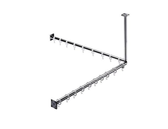 Emco System 2 Set Duschvorhangstange 358700121, chrom, 900 mm