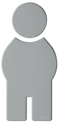 HEWI Symbol Mann Serie 801 selbstklebend Felsgrau 801.91.010 95