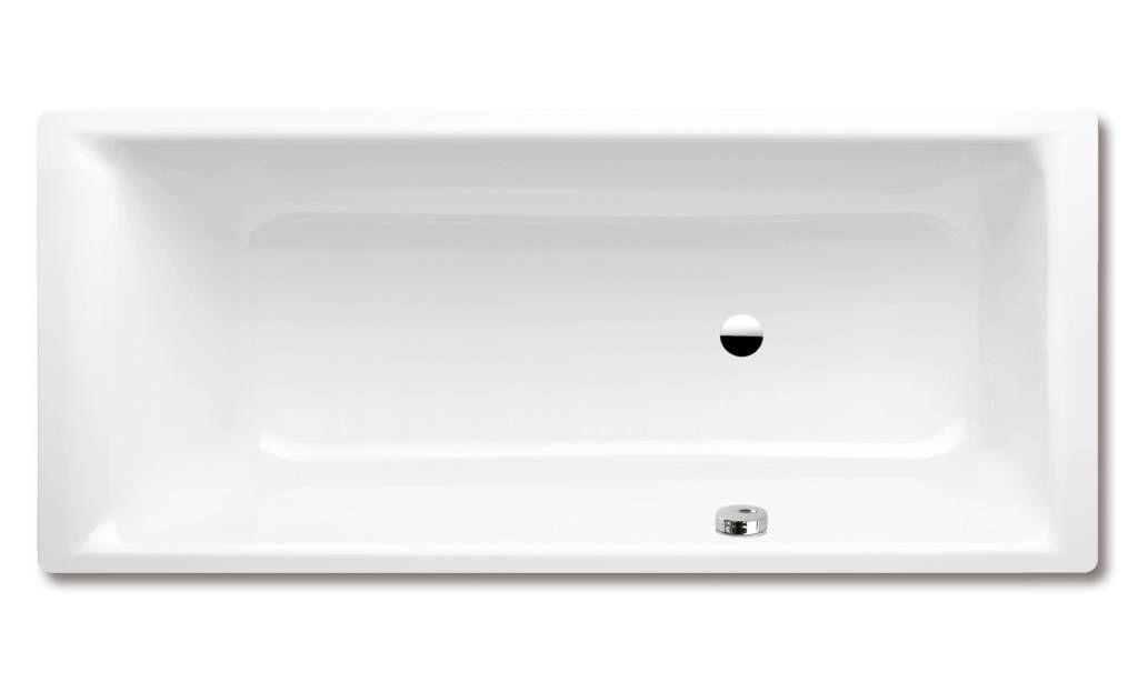 Kaldewei Ambiente Puro 657 Rechteck-Badewanne L:180xB:80xT:42cm mit seitlichem Überlauf weiß Perl-Effekt 256723003001