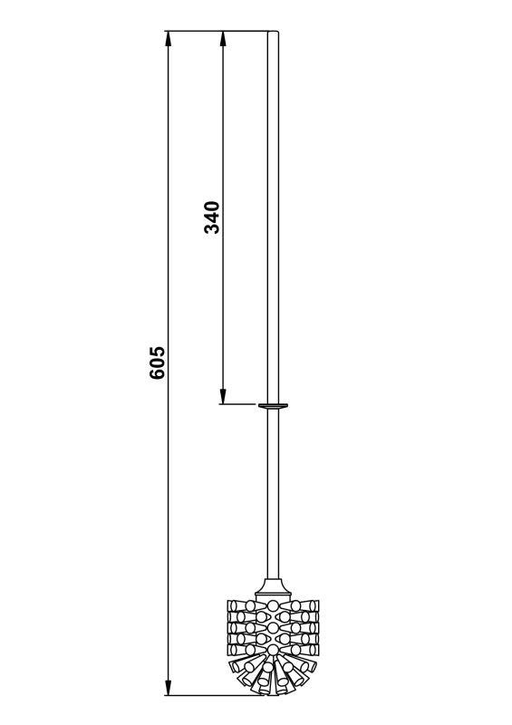 Giese WC Bürste Stiel mit Bürstenkopf weiß lange Version zu 21077,21078 81305-02