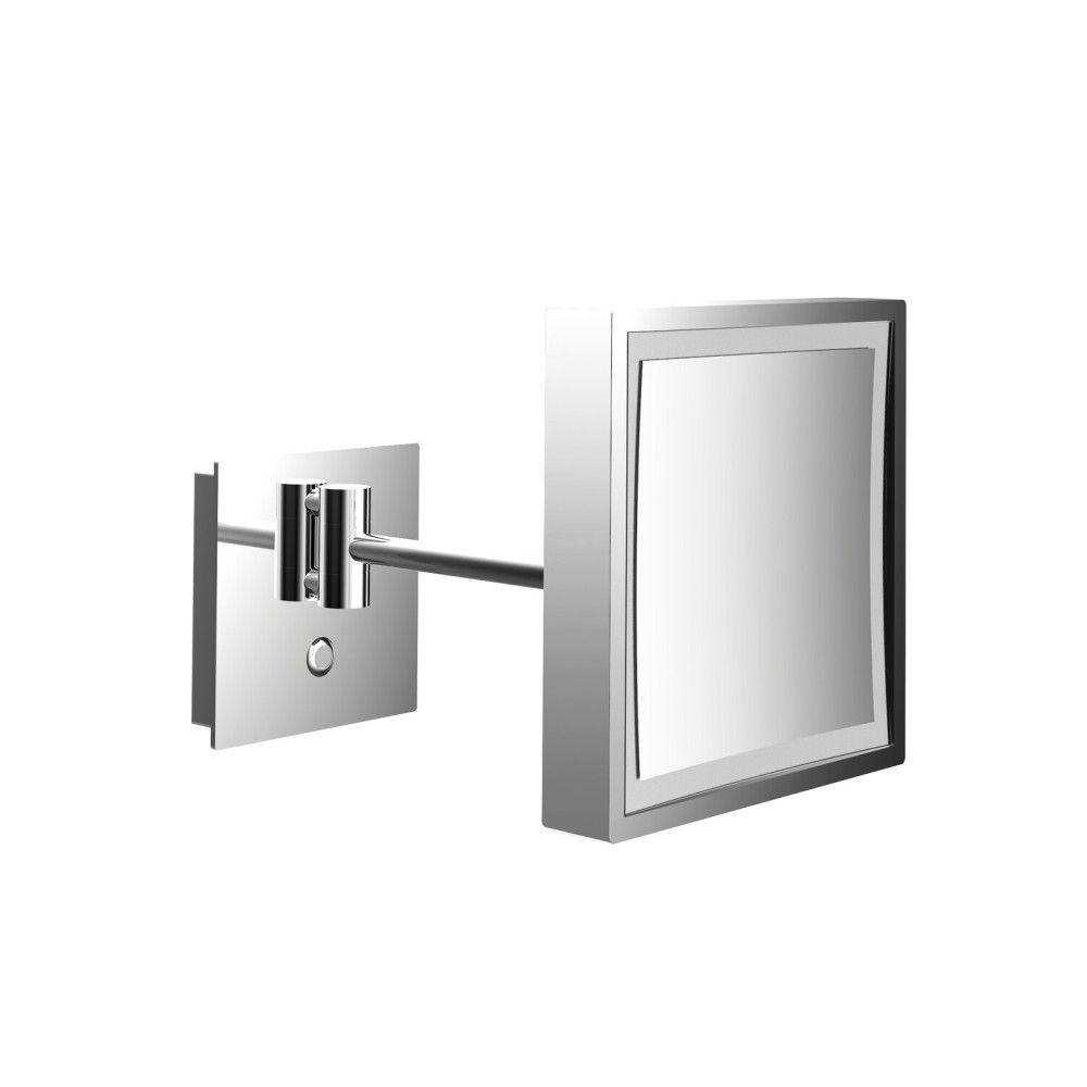 Emco Pure LED-Kosmetikspiegel H:20,3xB:20,3cm 3-fache Vergrößerung 1-armig chrom 109406011