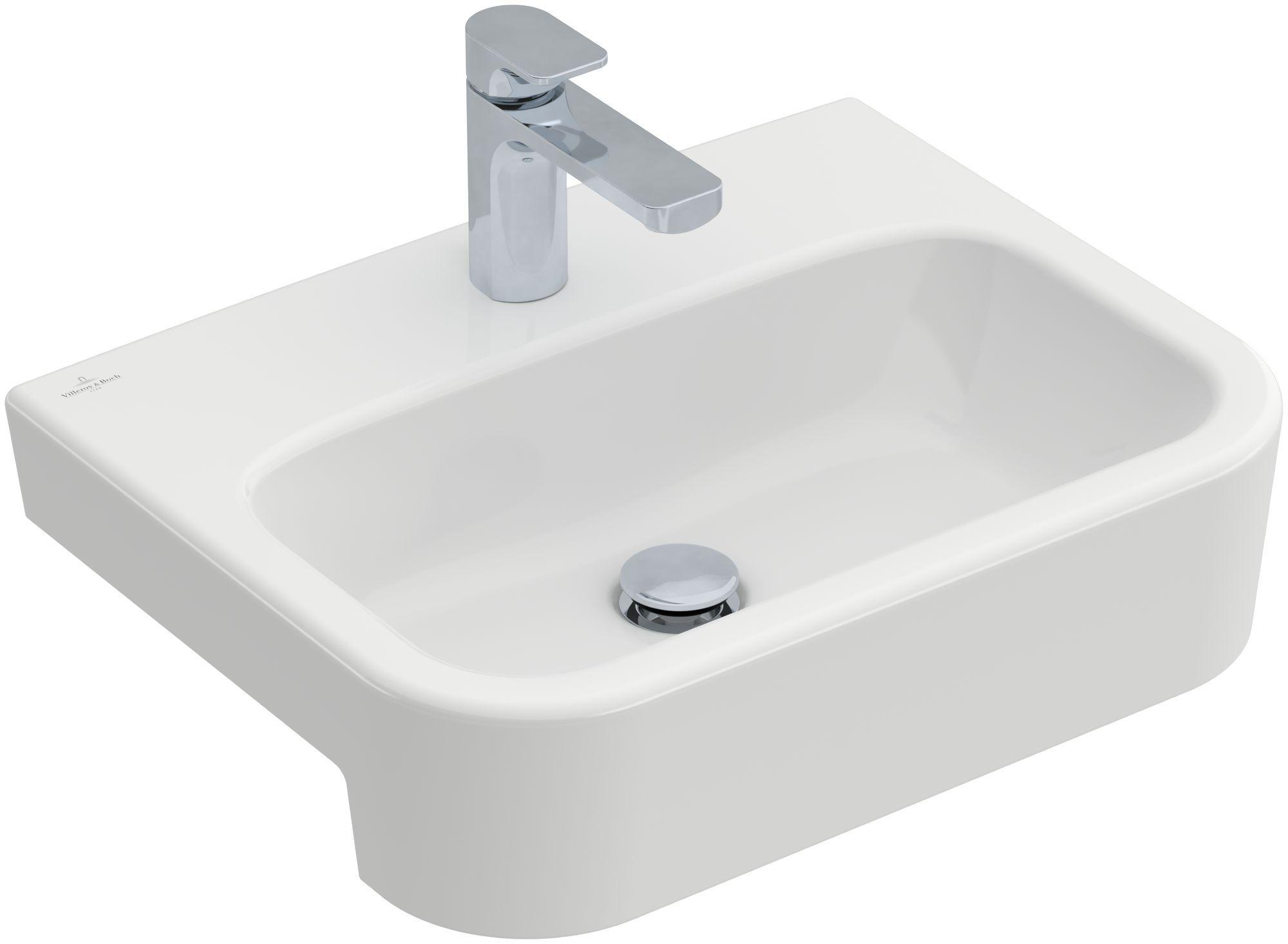Villeroy & Boch Architectura Vorbauwaschtisch ohne Überlauf 1 Hahnloch B:55xT:43cm ohne Überlauf 1 Hahnloch weiß Ceramicplus 419056R1