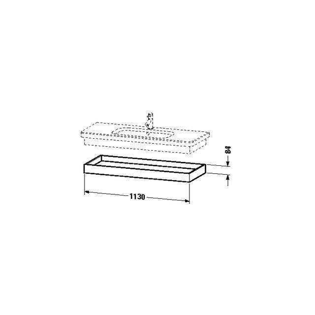 Duravit DuraStyle Ablageboard 448x1130x84 kastanie dunkel/ weiß matt DS618305318