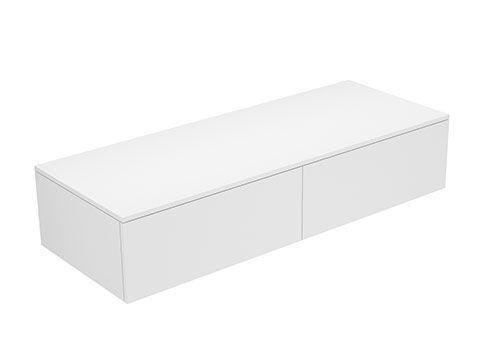 Keuco Edition 400 Sideboard wandhängend 2 Frontauszüge 1400 x 289 x 535 mm titan/Glas titan satiniert 31765160000
