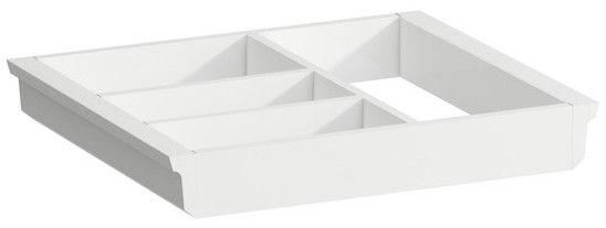Laufen Space Ordnungssystem B:32xH:4,5xT:27,4cm für kleine Schubladen und Trolly weiß H4954051606311