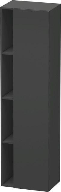 Duravit DuraStyle Hochschrank B:50xH:180xT:36 cm mit 1 Tür Türanschlag rechts graphit matt DS1249R4949