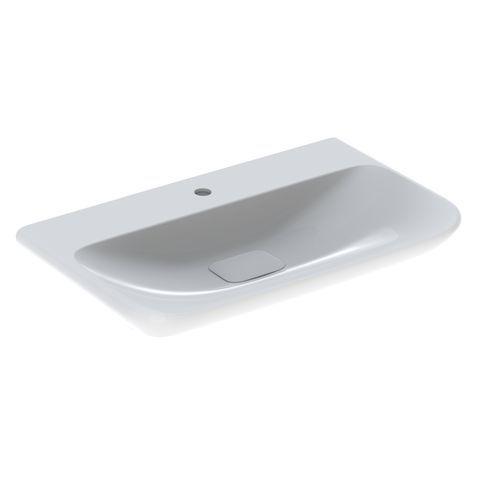 Geberit Keramag myDay Waschtisch B:80xT:48xH:13,5cm 1 Hahnloch ohne Überlauf weiß mit KeraTect 125480600