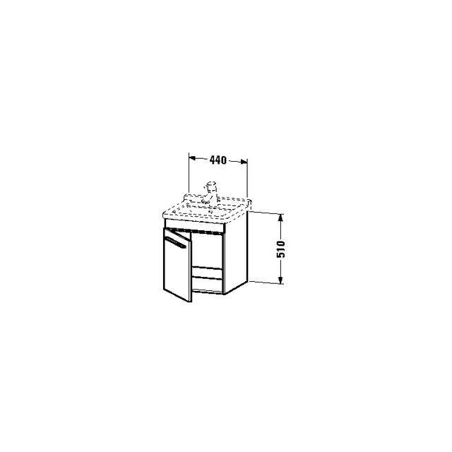 Duravit X-Large Waschtischunterschrank wandhängend B:44xH:51xT:44,3 cm mit 1 Tür Türanschlag rechts stone blue hochglanz XL6525R4747
