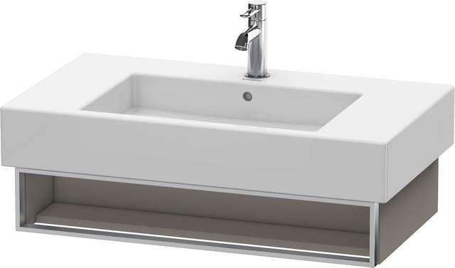 Duravit Vero Waschtischunterschrank wandhängend für 032985 B:80xH:15,5xT:44,6cm 1 Fach basalt matt VE601304343