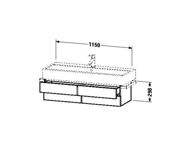 Duravit X-Large Waschtischunterschrank wandhängend B:45xH:44,8xT:22,8cm 1 Tür Türanschlag links kastanie dunkel XL6208L5353