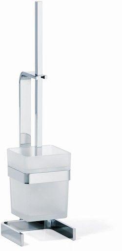 Giese Von der Rolle Toilettenbürstengarnitur Kristallglas satiniert und chrom 31784-02