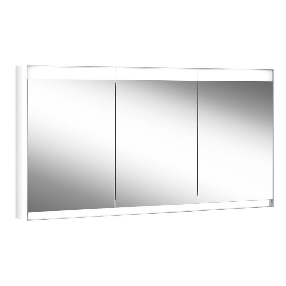 Schneider Spiegelschrank ADVANCED Line Superior 180/3/GT/HCL B:180xH:76xT:15cm mit Beleuchtung mit Kosmetikspiegel grau 180.180.02.04