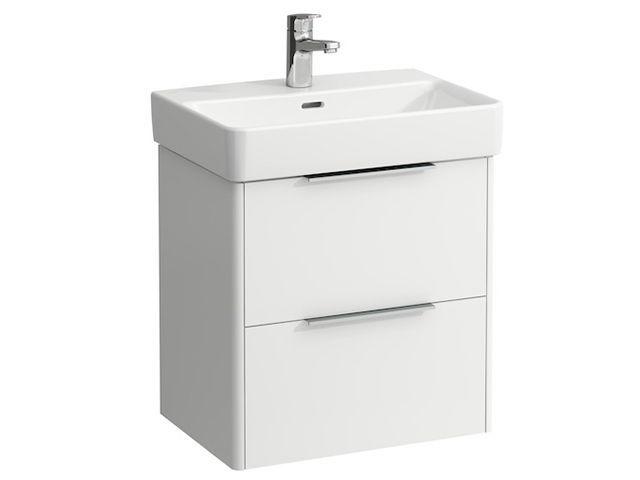 Laufen Base für Pro S Waschtischunterschrank B:52cmxH:53cmxT:36cm mit 2 Schubladen Weiß matt H4021521102601