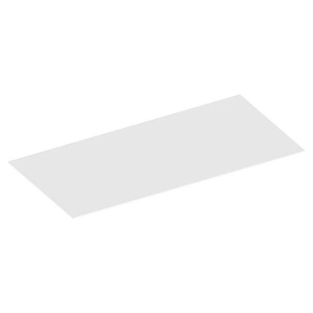 KEUCO Edition 90 Abdeckplatte passend zum Sideboard 39028 1202 x 6 x 486 mm Glas weiß 39028309000
