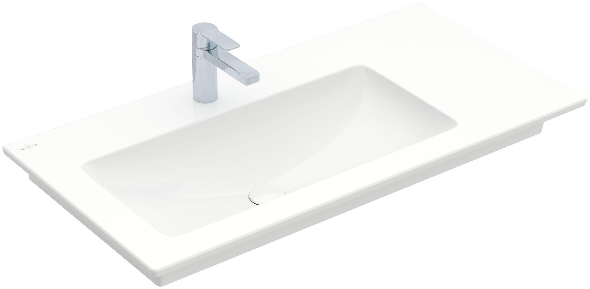 Villeroy & Boch Venticello Möbelwaschtisch B:100xT:50cm 1 Hahnloch ohne Überlauf weiß mit Ceramicplus 4134L2R1