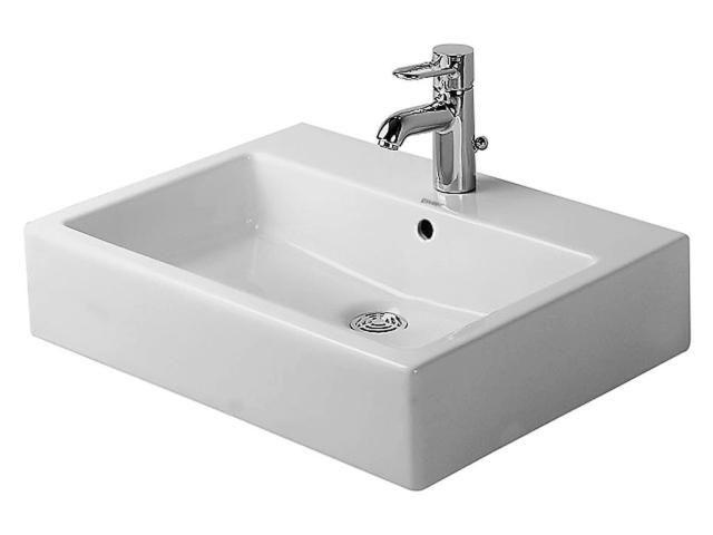 Duravit Vero Waschtisch B:60xT:46,5cm 1 Hahnloch mittig mit Überlauf weiß 0454600000