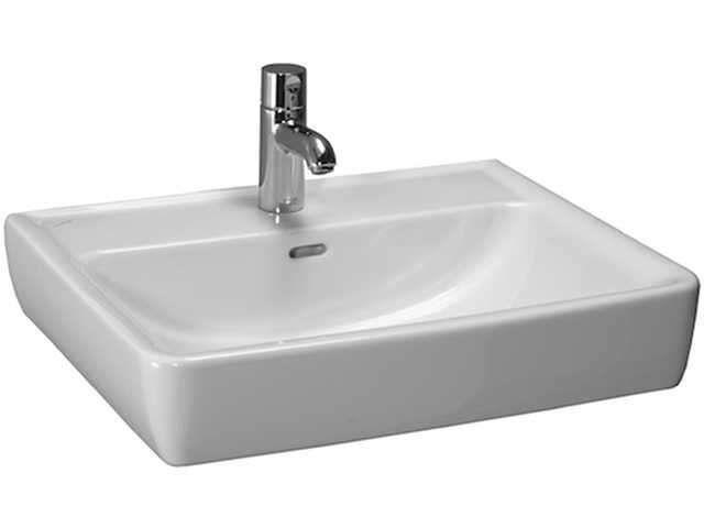 Laufen Pro Aufsatzwaschtisch B:60xT:48cm 1 Hahnloch mittig mit Überlauf weiß mit CleanCoat LCC H8179524001041