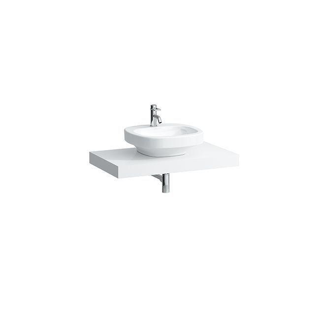Laufen Case Waschtischplatte ohne Ausschnitt B:89,5xT:52cm weiß H4051300754631