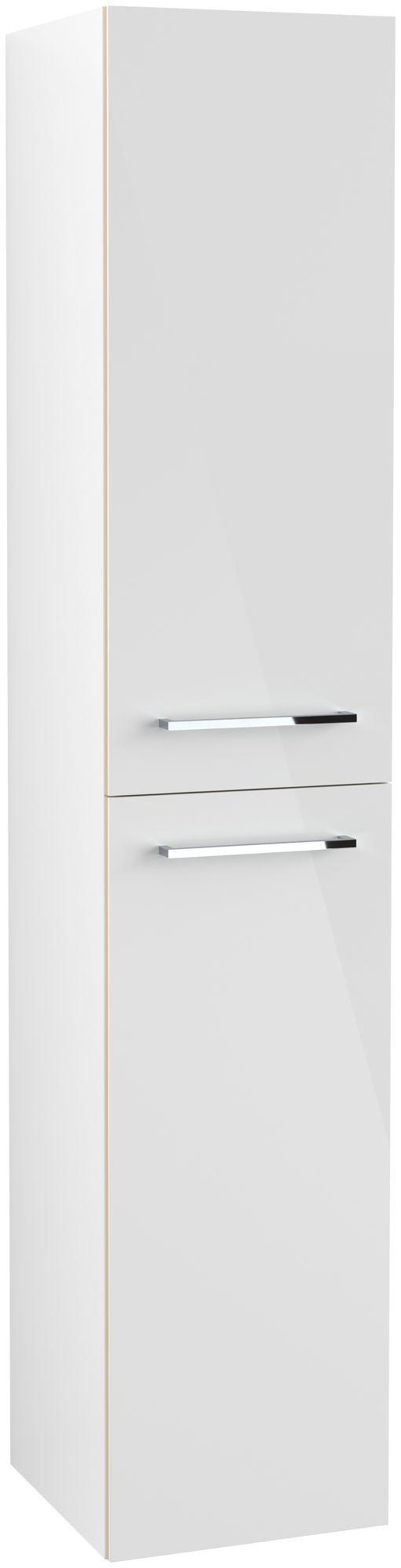 Villeroy & Boch Avento Hochschrank Türanschlag rechts B:35 x H:176 x T:37 cm crystal white A89401B4