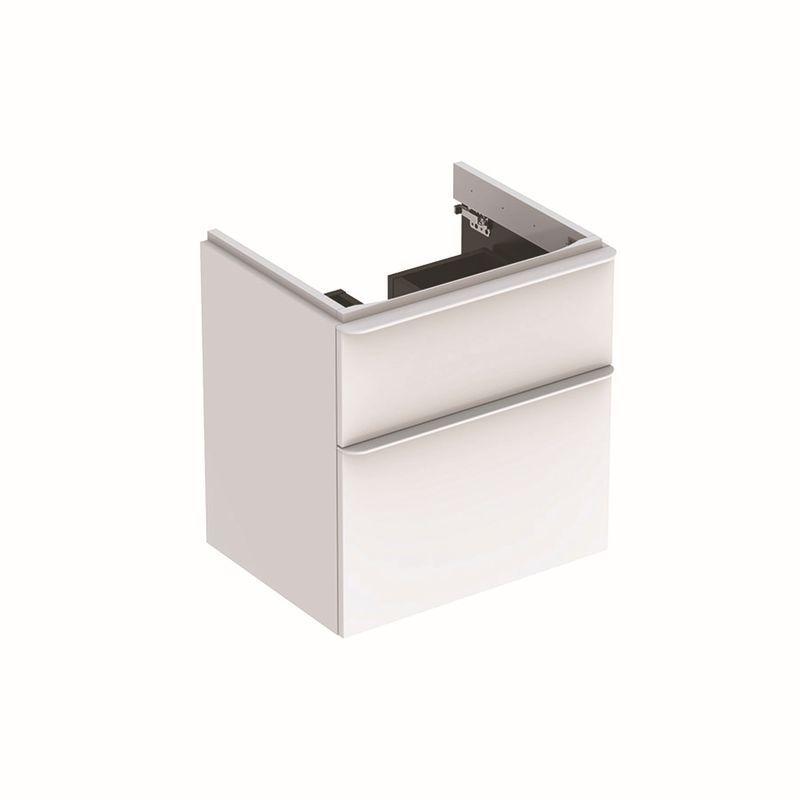 Geberit Smyle Square Unterschrank für Waschtisch mit 2 Schubladen 584x617x47cm weiß 500352001