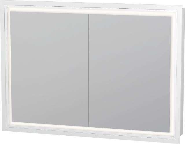 Duravit L-Cube Spiegelschrank Einbauvariante B:100xH:70xT:15,4 mit LED Beleuchtung 2 Spiegeltüren LC765200000