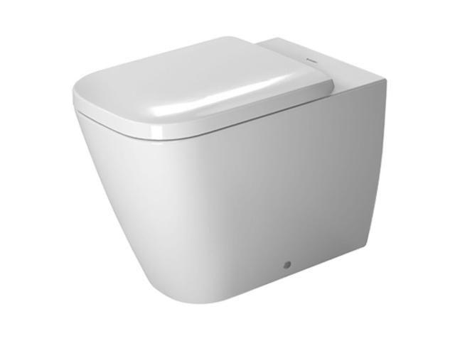 Duravit Happy D.2 Tiefspül-Stand-WC Abgang waagerecht L:57xB:35,5cm weiß mit Wondergliss 21590900001