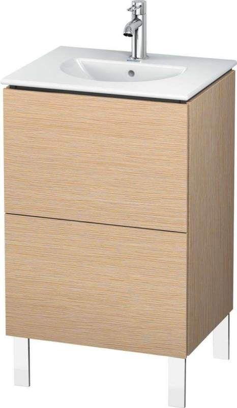 Duravit L-Cube Waschtischunterschrank stehend B:52xH:70,4xT:41,9 cm mit 2 Auszügen eiche gebürstet LC660401212