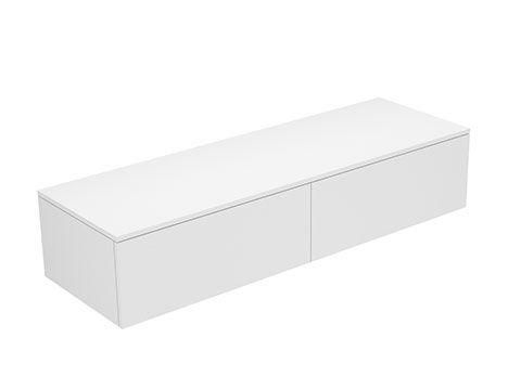 Keuco Edition 400 Sideboard wandhängend 2 Frontauszüge 1400 x 289 x 450 mm anthrazit/anthrazit 31765390001 - MAIN