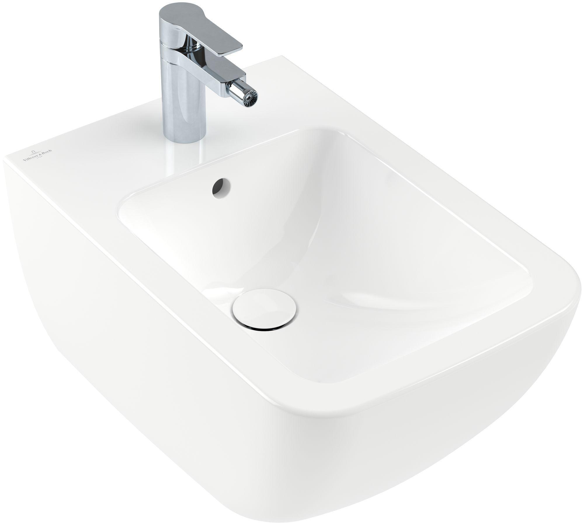 Villeroy & Boch Venticello Bidet B:560 x T:375mm weiß Alpin CeramicPlus 441100R1