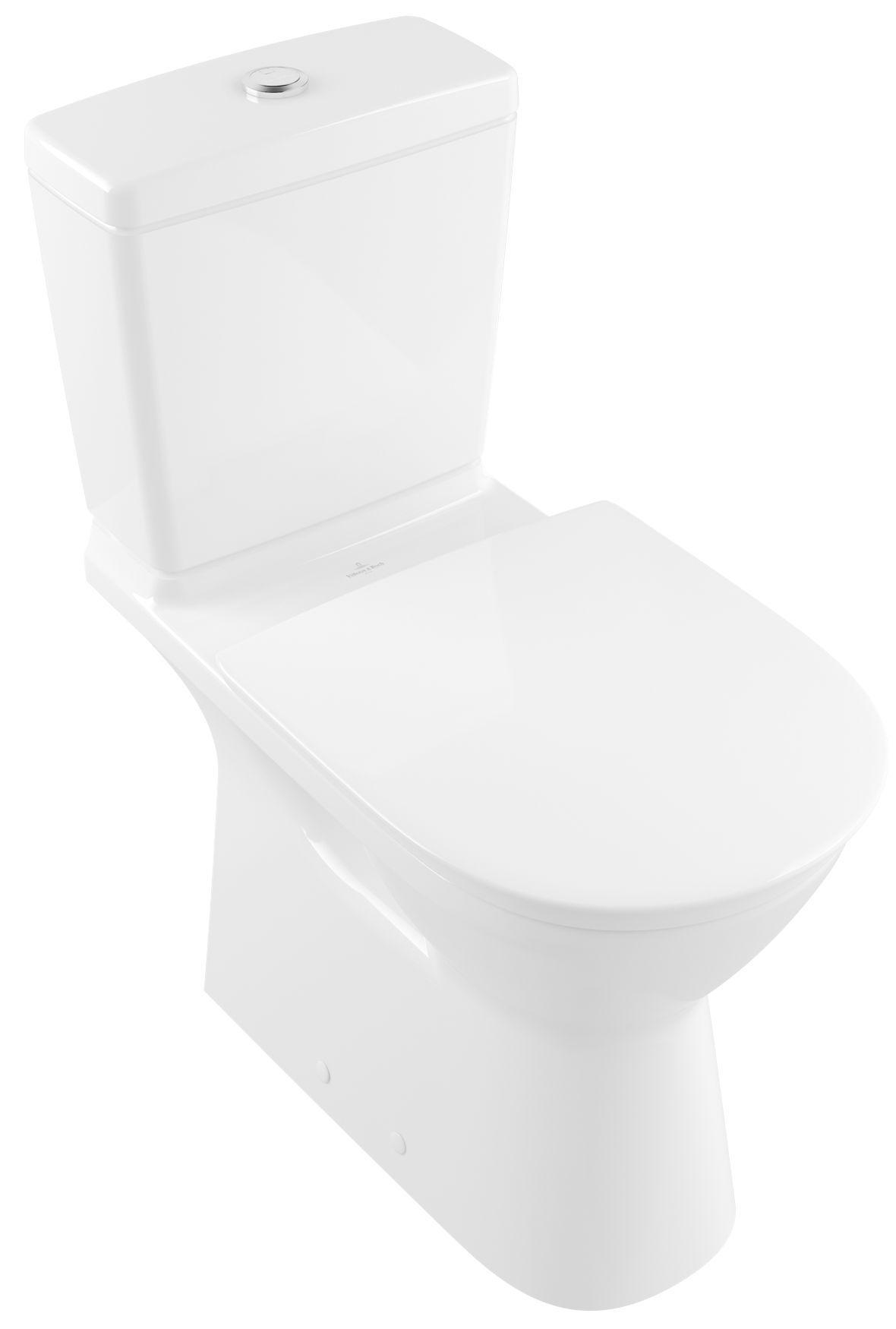 Villeroy & Boch O.Novo Vita Stand-Tiefspül-WC DirectFlush mit offenem Spülrand für Aufsatzspülkasten L:70xB:36cm weiß mit CeramicPlus 4620R0R1