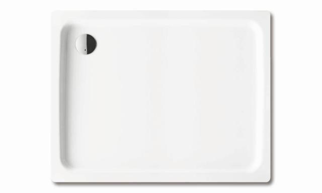 Kaldewei Ambiente DUSCHPLAN 555-2 Duschwanne Rechteck 80x120x6,5cm alpinweiß Perl-Effekt mit Wannenträger 448248043001